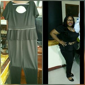 Eloquii zip-off peplum jumpsuit- worn once